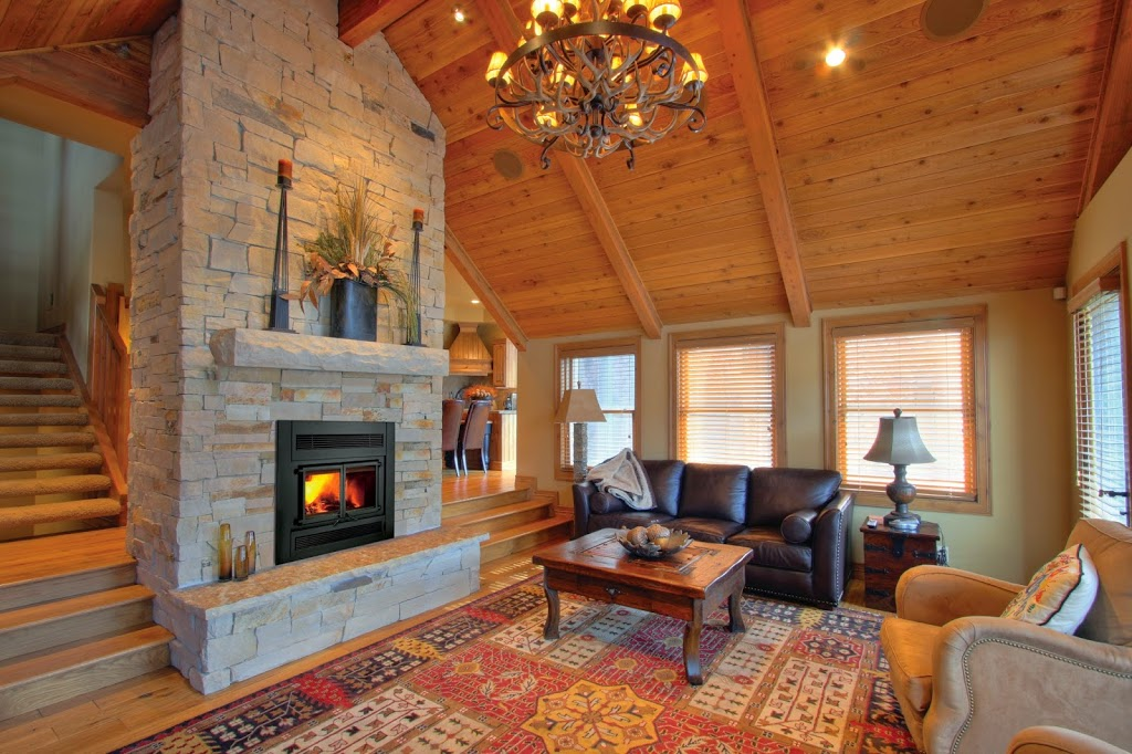 wood burning stove in living room a wood burning fireplace provides several practical 24571