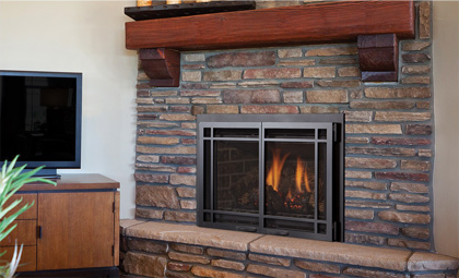 Gas Fireplace Screen