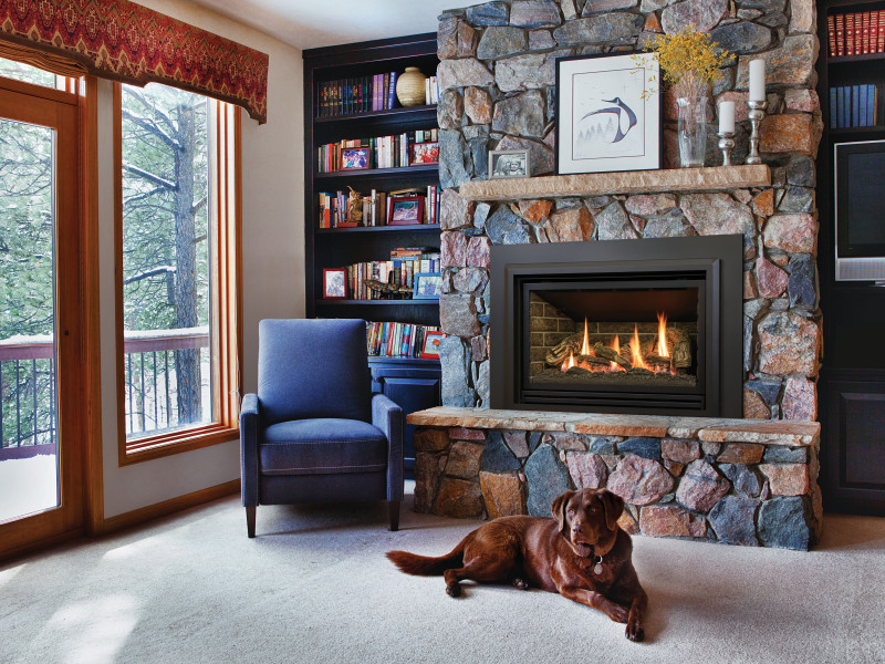 The Chaska 335s gas fireplace insert is the perfect fit
