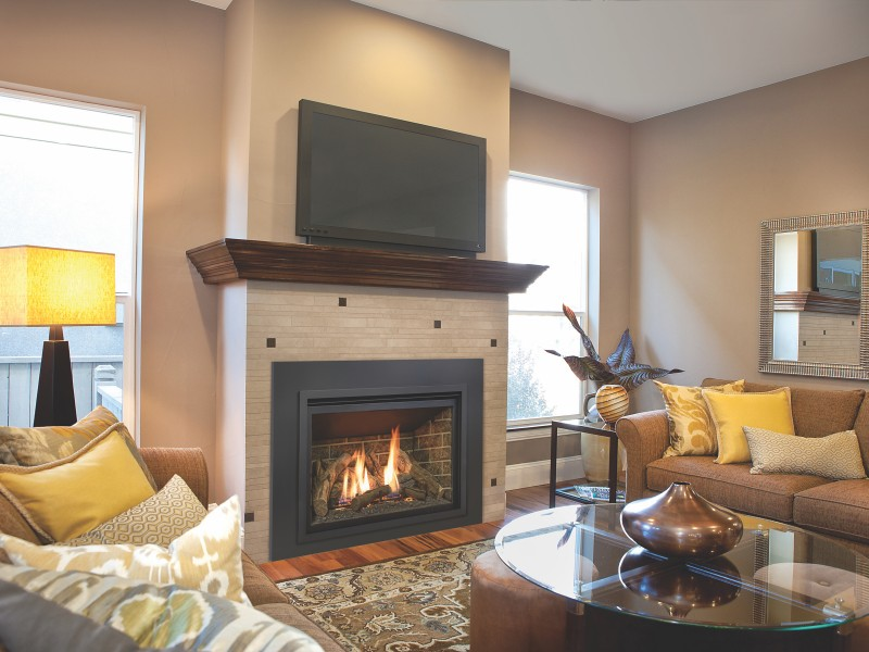 The Chaska 34 gas fireplace insert comes with an Electronic Ignition Pilot System