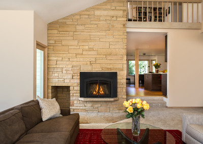 Jordan30 - Gas Insert Fireplace with Traditional Log Set