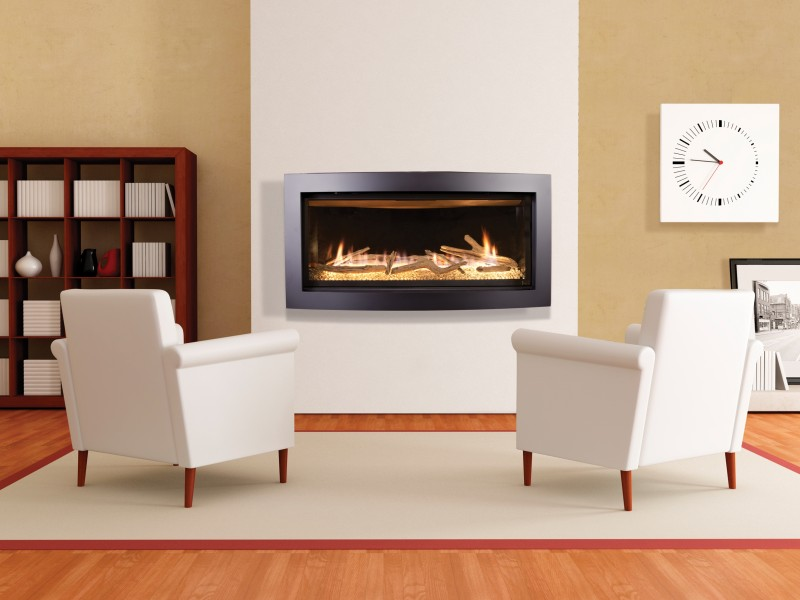 The Slayton 42S contemporary direct vent gas fireplace offers a sleek modern design that will revolutize your contemporary design ideas.