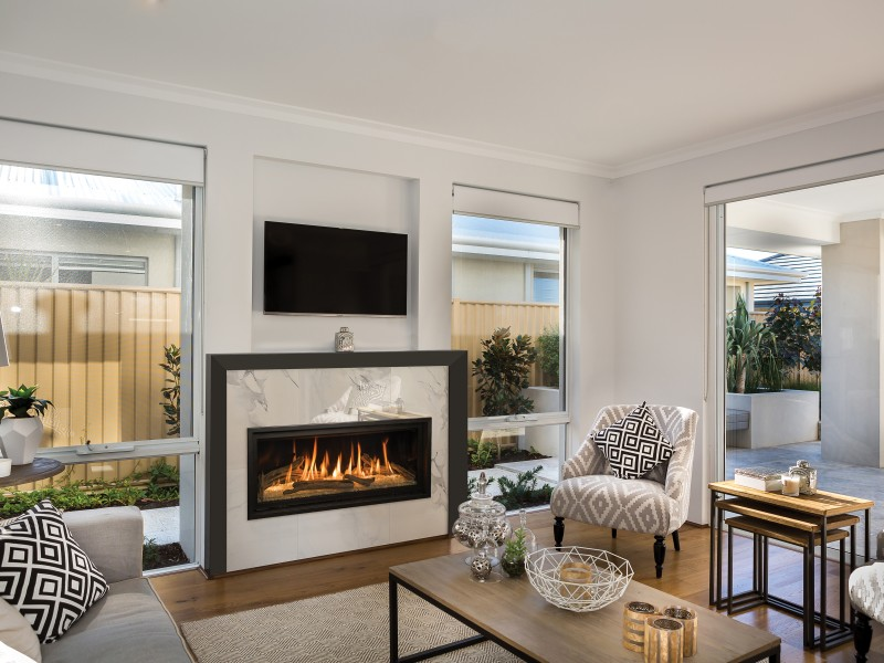 Gas Fireplace linear gas fireplace : Slayton 42S Direct Vent Gas Fireplace | Contemporary Gas ...