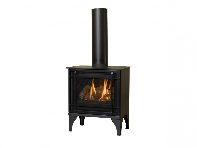Oakport 18 Direct Vent Gas Fireplace Free Standing Stove Kozy Heat