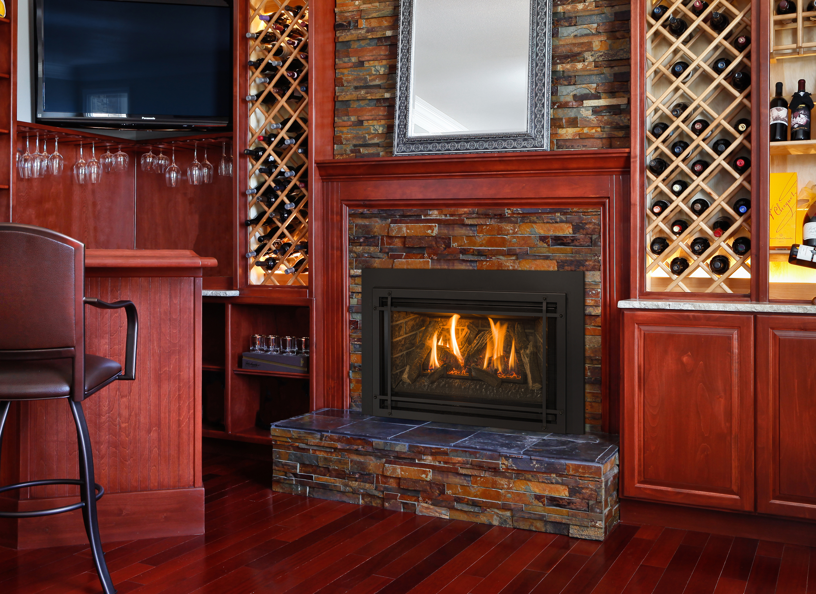 how a gas insert fireplace can benefit your home u0027s ambience